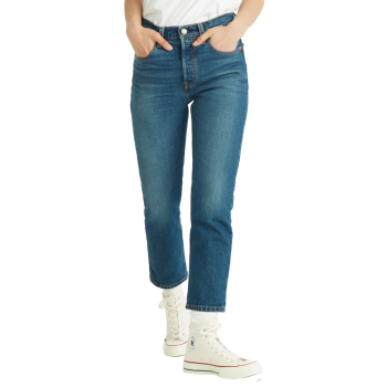 Levi's 501® Crop Jeans, blau verwaschen, Charleston All Day, Frontansicht