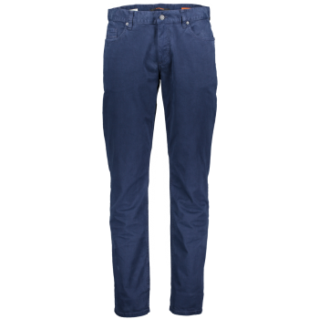 Alberto pantalon Pipe, regular slim fit, bleu foncé, navy, devant