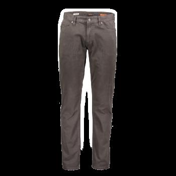 Alberto pantalons Pipe, regular slim fit, brun foncé, brown, devant