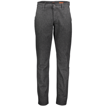 Alberto pantalon chino Lou, regular slim fit, gris, Retro Black, devant