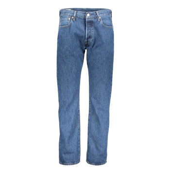 Levi's 501 Jeans straight, mittelblau, stone washed, Frontansicht