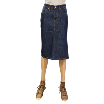 Levi's Side Slit Skirt, dunkelblau, Juniper Ridge, Frontansicht