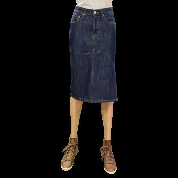 Levi's Side Slit Skirt, bleu foncé, Juniper Ridge, devant