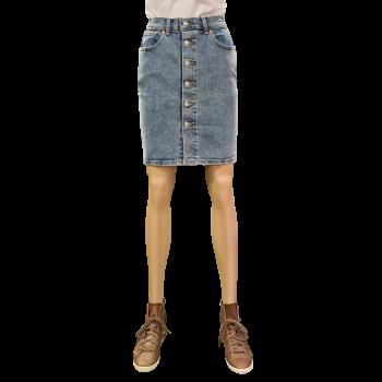 Levi's Side Slit Skirt, dunkelblau, Juniper Ridge, Frontansicht