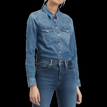 Chemise en jeans Levi's, Standard Fit, bleu moyen, Hazy Blue, devant