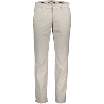 Alberto Chino Hose Lou, regular slim fit, Micro Check Beige, Frontansicht