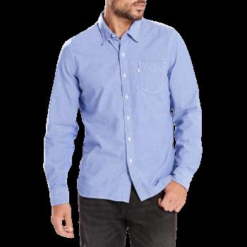 Levi's Sunset 1 Pocket Hemd Slim Fit, hellblau, True Blue, Frontansicht