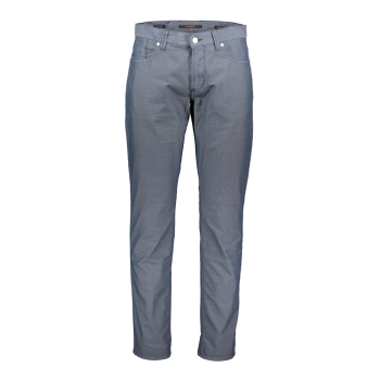 Alberto pantalons Pipe, regular slim fit, Micro Dark Blue, devant