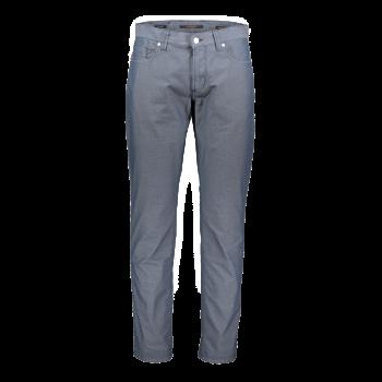 Alberto Stoffhose Pipe, regular slim fit, Micro Dark Blue, blau gemustert, Frontansicht