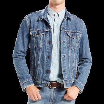 Veste en Jeans Levi's Trucker, bleu moyen délavé, Medium-Stonewashed, devant