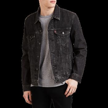 Levi's Trucker Jeansjacke Standard Fit, grau verwaschen, Fegin, Frontansicht