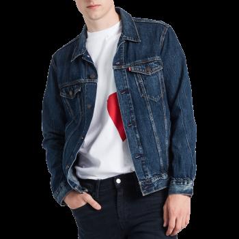 Veste en jeans Levi's Trucker Standard Fit, bleu moyen, Palmer, devant