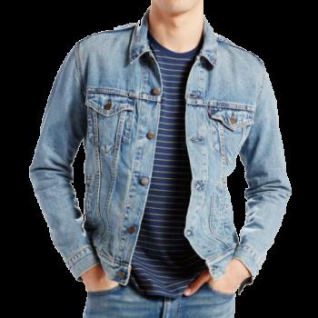 Levi's Jeansjacke Trucker Standard Fit, hellblau, Light Stonewash, Frontansicht