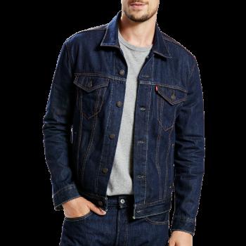 Levi's Jeansjacke Trucker Standard Fit, dunkelblau, Rinse, Frontansicht