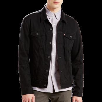 Levi's Jeansjacke Standard Fit, schwarz, Black, Frontansicht