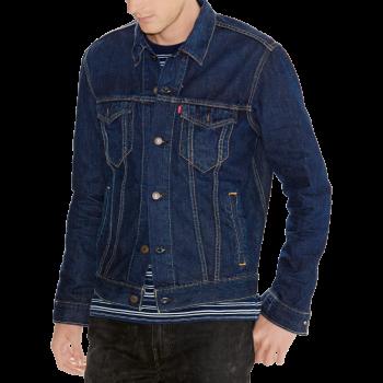 Levi's Trucker Jeansjacke Standard Fit, dunkelblau, Dark Stonewash, Frontansicht