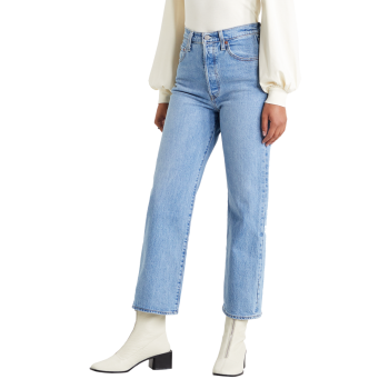 Levi's Ribcage Jeans Straight Ankle, mittelblau, Jive Swing, Frontansicht