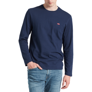 Levi's Original Tee, bleu foncé, Dress Blues, devant