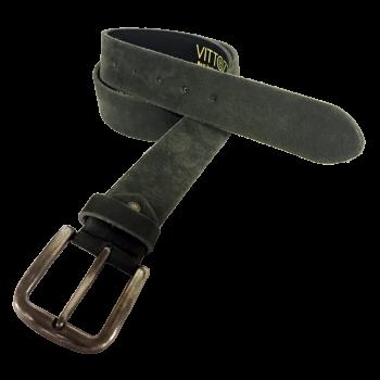 Vittozzi Ledergürtel schwarz-grau, 767
