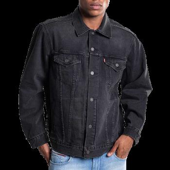Levi's Jeansjacke Trucker Vintage Fit, Black, Frontansicht