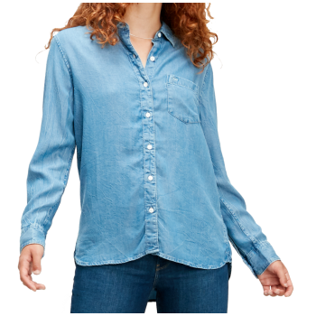 Levi's Ultimate Boyfriend Shirt, bleu moyen, Medium Authentic Wash, devant
