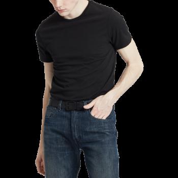 Levi's 2 Pack T-Shirt SLIM Fit crewneck, noir, devant
