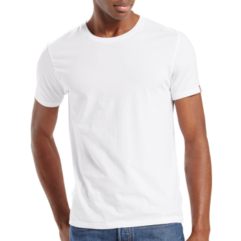 Levi's 2 Pack T-Shirt SLIM Fit rundhals, weiss, Frontansicht