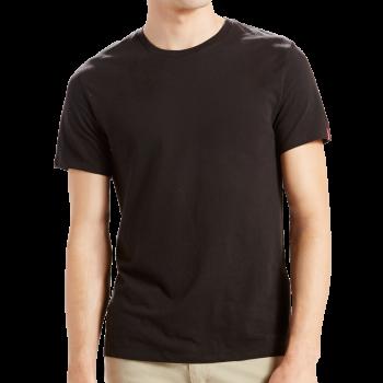 Levi's 2 Pack T-Shirt SLIM Fit rundhals, schwarz, Frontansicht