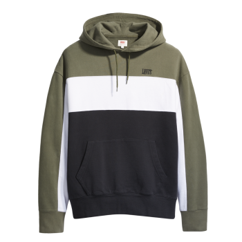 Levi's Colorblock Hoodie, Olive Night, devant