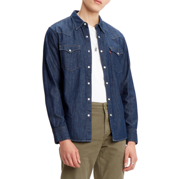 Levi's Barstow Western, Red Cast Rinse Marbled, Frontansicht