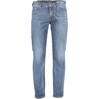 Alberto Jeans, regular slim fit, hellblau verwaschen, Denim Blue, Frontansicht