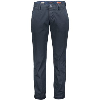 Alberto Chino Pantalon Lou, regular slim fit, bleu foncé, navy, devant