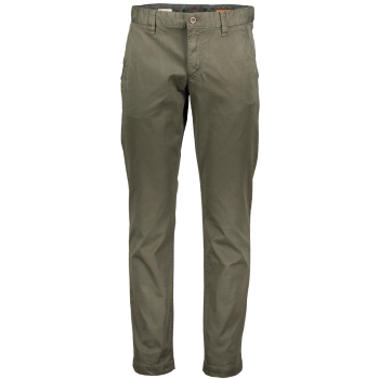 Alberto Chino Pantalon Lou, regular slim fit, vert olive, devant