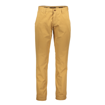 Alberto Chino Lou, regular slim fit, Yellow, jaune clair, devant