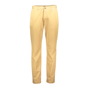 Alberto Chino Hose Lou, regular slim fit, Pastel Yellow, hellgelb, Frontansicht