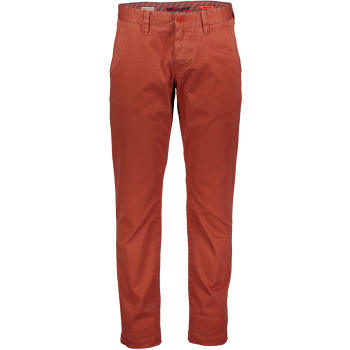 Alberto Chino Hose Lou, regular slim fit, rot, Frontansicht
