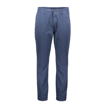 Alberto Chino Lou, regular slim fit, Blueberry, bleu foncé, devant