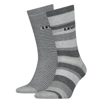 Levi's 2 Pack Socks Regular Cut, Black Grey