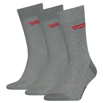 Levi's 3 Pack Socks Regular Cut, Middle Grey Melange