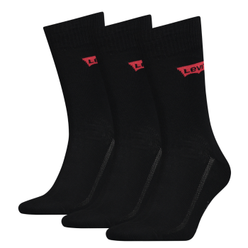 Levi's 3 Pack Socks Regular Cut, Jet Black