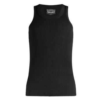 Levi's Tank Top Cotton Rib, schwarz, Frontansicht