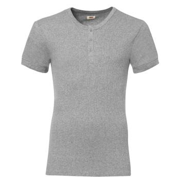 Levi's Short Sleeve Cotton Rib T-Shirt Col Rond, gris, devant