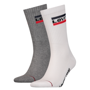 Levi's 2 Pack Socken 120 sf Regular Cut, Weiss / Grau