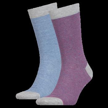 Levi's 2 Pack Socks 168 sf Regular Cut, Rayé Rouge, Profil