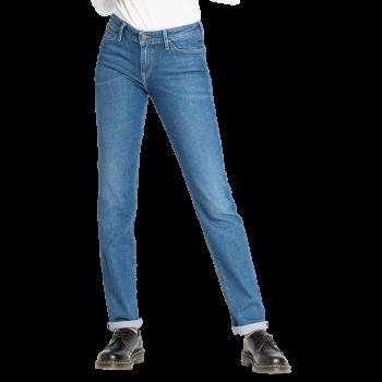 Lee Marion Jeans straight, bleu clair delavé, Mid Hackett, devant