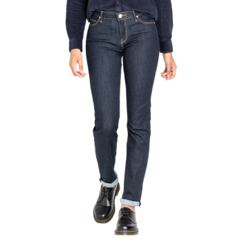 Lee Marion Jeans straight, dunkelblau, Rinse, Frontansicht