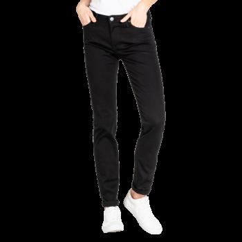 Lee Elly Jeans slim, noir, Black Rinse, devant