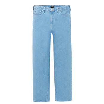 Lee Wide Leg Jeans, Fernwood Light, hellblau, Frontansicht