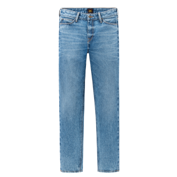 Lee Mom Jeans Straight, Mittelblau, Worn In Luther, Frontansicht