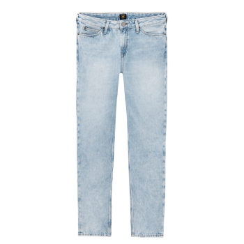 Lee Mom Jeans Straight, Hellblau, Get Light, Frontansicht